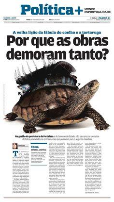 Foto montagem pro Caderno de Política do Jornal O POVO (tema demora nas obras da Copa do Mundo 2014)