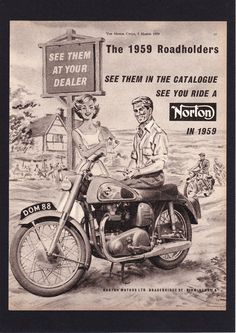 MARCH 1959 NORTON DOMINATOR MODEL 88 MOTORCYCLE 500cc TWIN.MAGAZINE ADVERT.