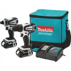 Cordless Driver Drill Hand Power Tool Compact Lithium Ion 18V Combo Kit 2 Piece #Makita