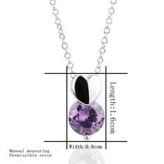 4,89 € Aliexpress.com : Buy Wholesale 18KGP N317 N318 Purple Necklace 18K Platinum Plated Fashion Jewelry Nickel Free Pendant Austria Crystal SWA E...