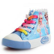 Muchachas de Los Cabritos calientes Zapatos del Top del Alto de Lona de Los…