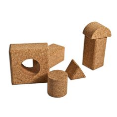 The Felt Store's Cork Toy Create is an eco-friendly toy that is perfect for all ages! Encourage your kids to make towering structures, learn to match blocks, about shapes and texture! The Cork Toy Create is a fun , interactive and environmentally friendly product that will keep your kids entertained for hours! All of the edges are rounded or made smooth to limit any chances of abrasion. This product is made from 100% Fine Grain Cork and is the natural brown cork colour. Each package contains…