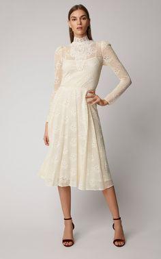 dcb17a143c8 Philosophy di Lorenzo Serafini High-Neck Lace Midi Dress Colorwhite  1