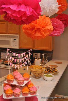 Birthday Brunch Ideas Pom Poms 38 Ideas For 2019 Orange Party, Orange Birthday Parties, Birthday Brunch, Birthday Fun, First Birthday Parties, Birthday Party Decorations, Birthday Ideas, Colorful Birthday, Halloween Birthday