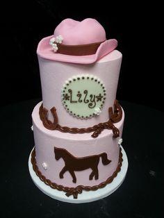Cookie Jar Bakeshop I Custom Cakes I Birthday Cake I Pony Themed Birthday Cake I Pink Western Themed Birthday Cake