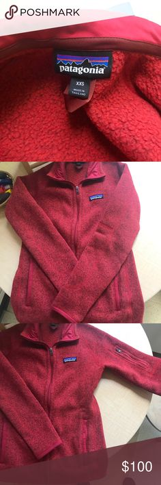 Patagonia Better Sweater Ramble red. Wore once but decided it was too small Patagonia Jackets & Coats