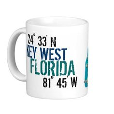 Shop Key West Latitude Coffee Mug created by Personalize it with photos & text or purchase as is! Key West Florida, Florida Keys, Key West House, Im Coming Home, Coffee Mugs, Coffee Talk, Coffee Travel, Photo Mugs, Tableware