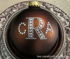 Make Monogrammed Ornaments To Give As Gifts.