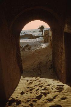 El Harhirhira passageway - Abandoned village near Touggourt Algeria