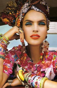Amazing use of colour! Baubles and Bits. Courtesy of Vogue Brazil