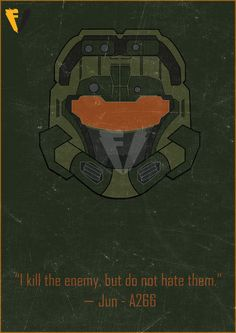 Halo Reach Jun Helmet Poster by FALLENV3GAS on DeviantArt