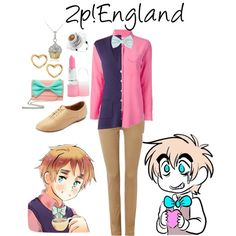 """2p!England (hetalia)"" by isabel-kitty-marie on Polyvore"