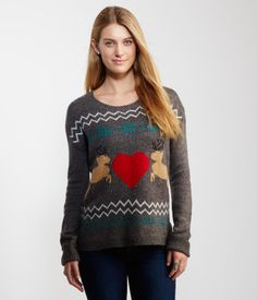 Our Reindeer Crew-Neck Sweater is a holiday-must-have!