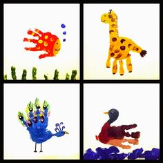 These little handprint pictures were painted onto mini canvases for christmas presents