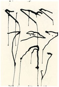 Brice Marden : Brush and ink on paper - from Workbook–Hydra, Tampere, N., Bucks Co. Abstract Drawings, Abstract Art, Artwork Drawings, Ink Paintings, Op Art, Whitney Museum, Doodle Art, American Art, Painting & Drawing