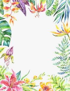 Fantasy poster background flor hermosa hojas verdes Gratis PNG y PSD Watercolor Cards, Watercolor Background, Watercolor Illustration, Watercolor Flowers, Plant Background, Fantasy Posters, Flower Frame, Pattern Drawing, Cute Wallpapers