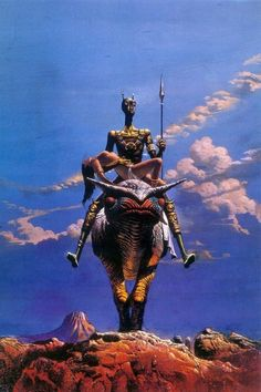 Bruce Pennington cover art for the 1975 edition of Edgar Rice Burroughs's A Princess of Mars.
