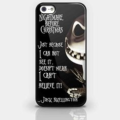 Jack Skellington Quote Nightmare Before Christmas for Iphone and Samsung Galaxy Case (iPhone 5/5s Black)
