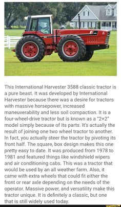 International Tractors, International Harvester, Case Ih Tractors, Cool C, Classic Tractor, Heavy Machinery, Four Wheel Drive, Rubber Tires, Commercial Vehicle