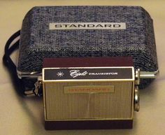 "A very small 8-transistor Standard ""Micronic Ruby"" 8-transistor radio.  These radios were powered by button battery cells."