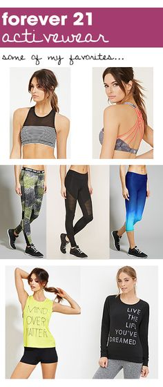 Affordable Workout Clothes from Forever21. Obsessed!