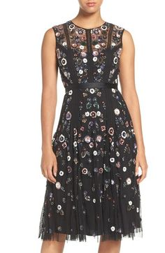Needle & Thread Embellished Tulle Fit & Flare Dress available at #Nordstrom