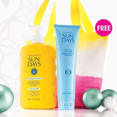 Sun Days Duo contains SPF50+ sunscreen lotion and Aftersun Moisturiser for only $39.90 plus FREE Sunrise bag