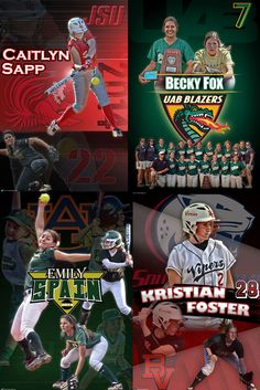 Want to recognize your senior in a special way on their signing day?  We were honored to be chosen to create custom softball banners to help four very talented ladies (Kristian Foster, Becky Fox, Caitlyn Sapp, Emily Spain) from Pelham High School to help celebrate their special occasion.  Each design featured multiple action shots of the player from their school teams and their travel teams along with the school to which they were committing.  Memories made special...forever!