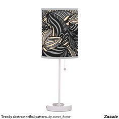 Trendy abstract tribal pattern. desk lamp  Trendy abstract tribal pattern. For home design and decor. Beautiful home accessories ideas. Luxury elegant style.