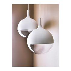 """VÄSTER LED pendant lamp (12""""D, 16""""H, 3'11"""" cord), IKEA $89.99. Warm white (2700 Kelvin) LED light source, 7.0W."""