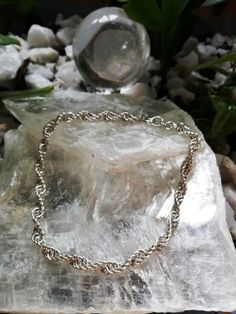 Sterling Silver 925 Anklet in spiral Silver Anklets, Beaded Anklets, Hanging Beads, Ankle Chain, Toe Rings, Ankle Bracelets, Chainmaille, Crystal Beads, Spiral