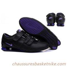 online store 531d6 6d39f Nike Shox R3 Femmes Chaussures magique Boucle Noir Violet Nike Shox For  Women, Nike Air