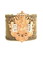 French Metallic Copper Crest Cuff  B3845 from Lizzy Couture Jewelry  on Taigan