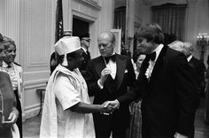 Bruce Jenner greets Gerald Ford and William Tolbert in 1976 - Caitlyn Jenner – Wikipedia