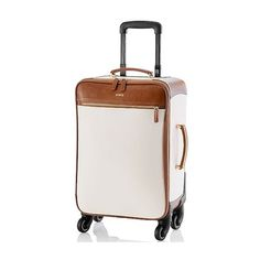 Mark & Graham Concourse Carry-On Spinner, White (3.974.905 IDR) ❤ liked on Polyvore featuring bags and luggage