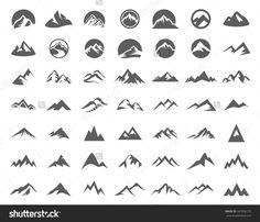 Tips On How To Take Better Photos. Geometric Mountain Tattoo, Mountain Logos, Mountain Designs, Logo Montagne, Logo Design Inspiration, Icon Design, River Logo, Hiking Tattoo, Tattoos Mandala