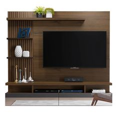 Mica Panel para TV Vitoria Madera/Café – Anime pictures to hairstyles Modern Tv Unit Designs, Living Room Tv Unit Designs, Modern Tv Wall Units, Living Room Sofa Design, Home Room Design, Tv Unit Decor, Tv Wall Decor, Tv Cabinet Design, Tv Wall Design