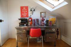 Habitat desk Stand out slogan artwork fills Jade Lovejoy's inspiring habitat #ourHabitat http://po.st/SEZBbJ