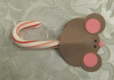 I saw something just like this little Candy Cane Mouse except it was for a big candy cane. You can see the big one by CLICKING HERE . Christmas Arts And Crafts, Kids Christmas, Christmas Cards, Something Just Like This, Holiday Club, Angel Crafts, Nutcracker Christmas, Classroom Crafts, Snowman Crafts