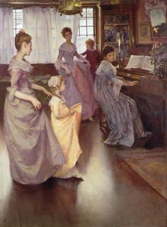 The Minuet by Elizabeth Stanhope Forbes (1892)