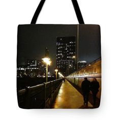 Remembrance for a night in Austin Texas - double stitched, image 2 sides http://fineartamerica.com/products/bridge-into-the-night-felipe-adan-lerma-tote-bag.html #ATX #vacationgift