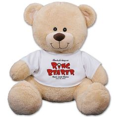11 Personalized Ring Bearer Teddy Bear >>> Want additional info? Click on the image.