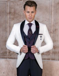 While brides-to-be are too anxious and apprehensive about gowns and dresses, Grooms on the other hand are also worried about their attire for the big day. If it is important for the bride to wear t… Groom Outfit, Groom Attire, Best Wedding Suits, Mens Tuxedo Suits, Men Style Tips, Suit And Tie, Men's Grooming, Suit Jacket, Street Style