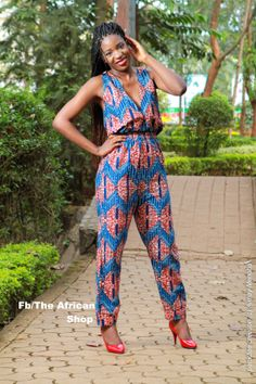 Asuma+Jumpsuit+by+THEAFRICANSHOP ~African Prints, African women dresses, African fashion styles, african clothing