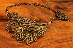 Dashing large bronze necklace from 1970s by Jorma by oneeyedraven