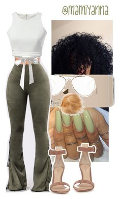 """Black Barbie~ Nicki Minaj "" by mamiyanna on Polyvore featuring CÉLINE, Halogen, GET LOST and Gianvito Rossi"