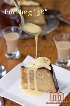 Pudding Brioche - Banane - Baileys  350 g de brioche rassie ou pain brioché rassi 3 bananes mûres 300 ml de Baileys (ou de lait) 3 oeufs 100 g de sucre 1 pincée de sel