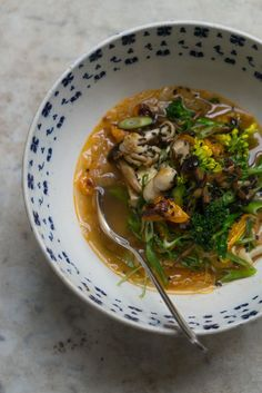 Kimchi Soup  Recipe  - A Kimchi Soup inspired by a bowl of fiesty, fiery, brothy cabbage soup I had years ago at Namu Gaji in San Francisco. - from 101Cookbooks.com