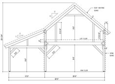 December ponderosa country barn 20x40 Bent Section