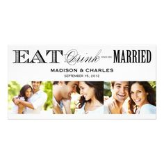 & BE MARRIED   SAVE THE DATE ANNOUNCEMENT PHOTO GREETING CARD